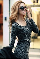 Женское платье 1010 2012 dress Korean Vneck Milk Silk Women Dress