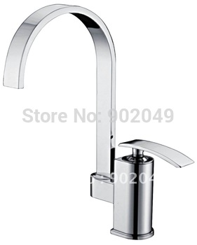 Bathroom Vanity Brass Zinc Alloy Handle Ceramic Spool Deck Mount Bathroom Mixer Glow Polish Sink Vanity KF-6075