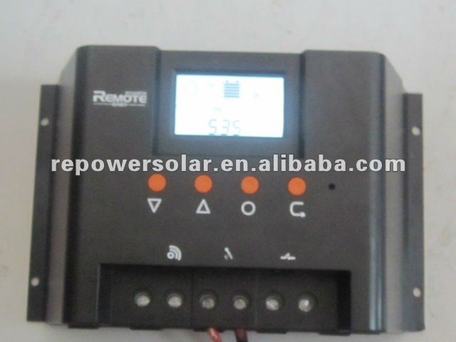 Remote Power PWM LCD Big current 40A solar regulator(China (Mainland))