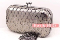 2012 new arrival hollow out women handbags/evening box clutch bag.free shipping wholesale