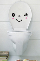 Personalized fashion cartoon waterproof eco-friendly toilet stickers 3 kinds of expression