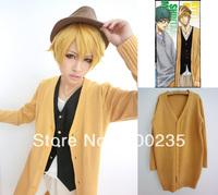 Kuroko no Basuke Kuroko's basketball Kise Ryota Cosplay Costume uniforms yellow sweater cardigan outerwear Christmas Size: M, L