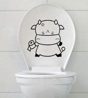 Personalized fashion cartoon dallas waterproof toilet stickers 10pcs/lot free shipping wall sticker