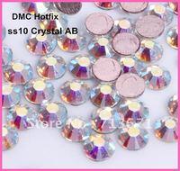 Free Shipping! 1440pcs/Lot, ss10 (2.7-2.9mm) High Quality DMC Crystal AB Iron On Rhinestones / Hotfix Rhinestones