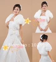2012 Classic  White High Quality Short Sleeves Wedding Bolero Free Shipping