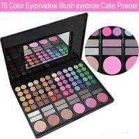 Professional 32pcs cosmetic makeup brushes nylon fiber powder BB brush set kits  with leather case free shipping