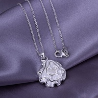 High Quality!Free Shipping 925 Sterling Silver Jewelry.New arrived Jewelry .Lovely Necklace N041
