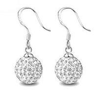 925 pure silver marriage crystal earrings drop earring