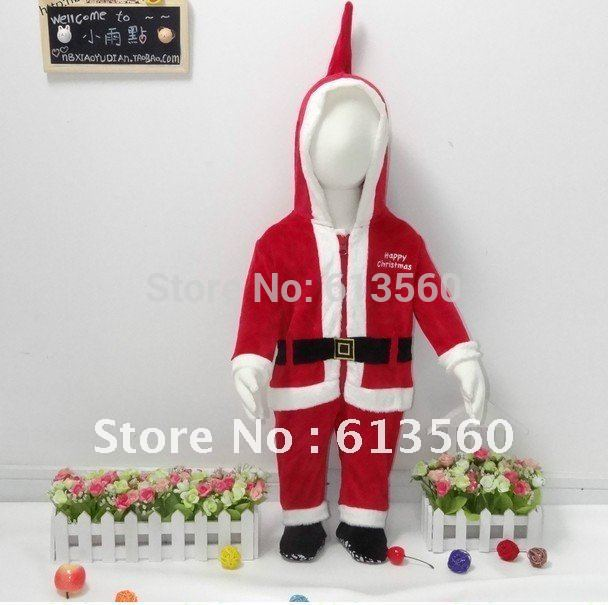 free shipping The autumn and winter children's clothing velvet Christmas costumes gift service leotard climb clothes b534 ok(China (Mainland))