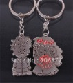 Wholesale Wedding Gifts Boy Girls Flower Couple key chain Lover key ring bride and groom  KC014