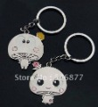 Wholesale Free shipping Mushroom dot couple key chain Lover key chain logo marriage KC026