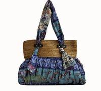 Bohemian big BLUE  women's handbag beach bags messenger bag
