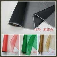 37color 6m/m 108cm 100% silk organza fabric