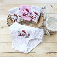 Hot sell Free shipping Factory outlets cotton children underwear wholesale cartoon hello kitty children briefs