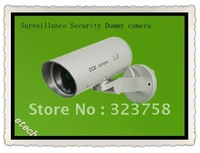 Fake waterproof Surveillance Security Dummy camera with LED light flashes CCTV with motion dection Sense rotary function