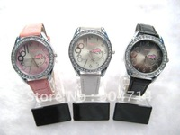 Wholesale KT cat quartz wrist watches/children cartoon kt wathes/kids kt cat student watch/KT leather strap watch