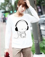 Music SIMS long sleeve T-shirt male lovers of cultivate one's morality round collar