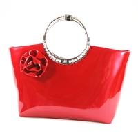 2012  red diamond candy flower bridal bag japanned leather  dinner patent leather  women's handbag