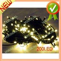 8 Flash Mode 200 LED String Light Christmas Wedding Decorative Lamp Chain Yellow, Free Shipping, Dropshipping