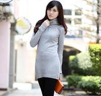 7338 Free shipping,rose slim one-piece dress,women's sweater dress,wholesale/retail