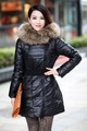 2012 winter fashion medium-long long design down coat Women