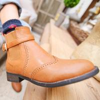 K small elastic strap patchwork cutout patchwork decoration plus velvet leather ankle boots
