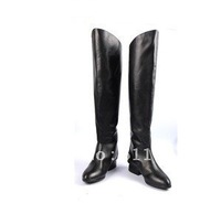 british style vintage discount new design flat shoe for women,woman fashion black knee high genuine leather boots,size34-42