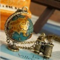 NL89 Free shipping!Retro globe Necklace,sweater chain,Christmas gift, New fashion necklace