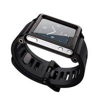 20pcs/lot free shipping Luna Tik Watch Band Cover Case For iPod Nano 6 .Aluminum + TPU, aluminum case for nano 6