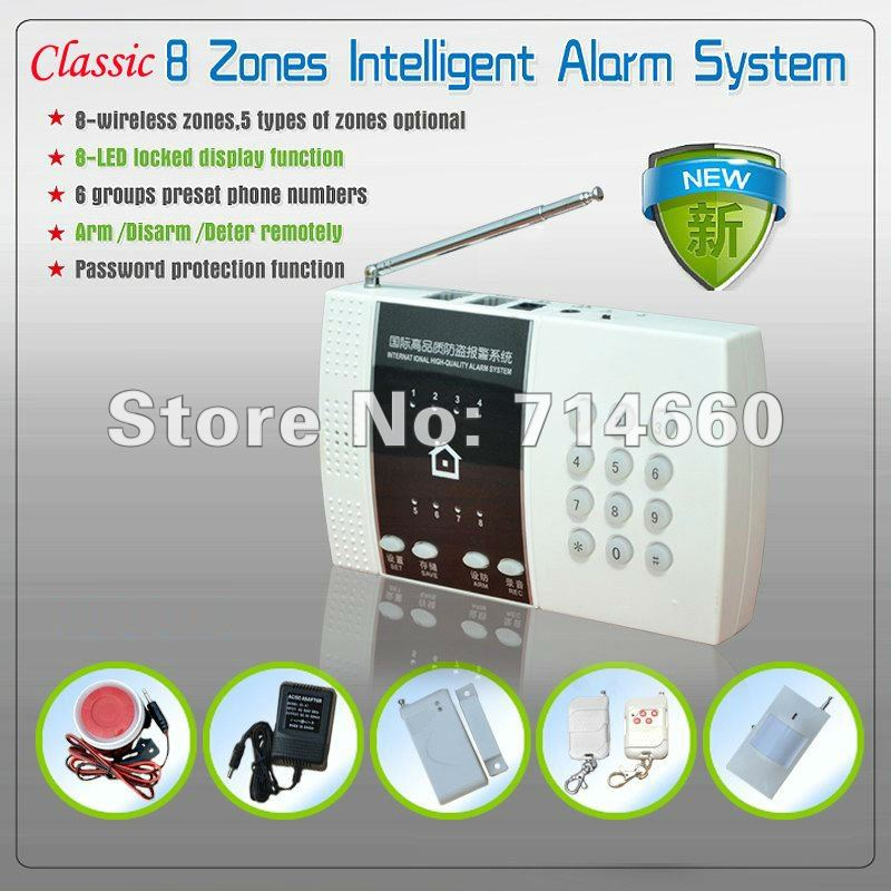 Wireless Home Alarm System w/ Auto Dialer Home Security PSTN Guard Burglar PIR Sensor House Safety Surveillance LED Smart(China (Mainland))