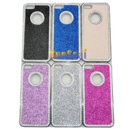 Luxury Glitter Bling Diamond Chrome Rhinestone Hard Case For Iphone 5 5g  10pcs/lot