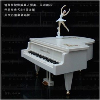 Dancing Ballet Girl music box piano with six world famous songs children early learning gift toy
