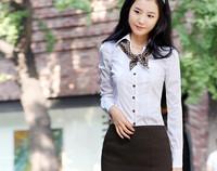 2012 long-sleeve shirt all-match royal slim shirt formal career female shirt