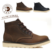 Free shipping Goodge sunny crazy horse leather men's boots casual shoes high leather shoes martin boots shoes