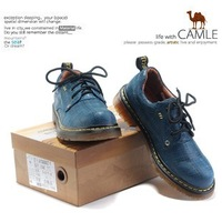 Free shipping U . S . CAMEL 2012 vintage check fashion casual shoes cow muscle outsole women's shoes