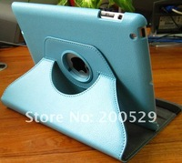 360 Rotating Leather Case Smart Cover Stand for iPad 4