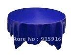 "wholesale cheap satin table cloths, 108"" round, royal blue tablecloths"