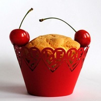 hot sell love customizable disposable paper laser cut wedding cupcake wrappers