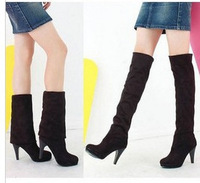 Women's Fashion Shoes Over the Knee Thigh Stretchy High Heels Boot