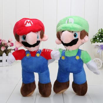 """Free Shipping New Super Mario Bros. Stand MARIO & LUIGI 2 pcs Plush Doll Stuffed Toy 8"""" Retail"""