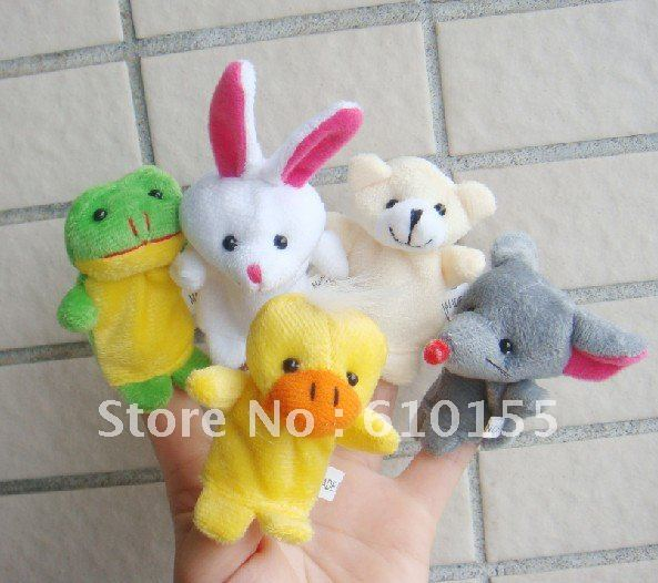 Free Shipping 20pcs/lot Baby Plush Toy,Finger Puppets,Talking Props(10 animal group) Top quality Christmas gifts(China (Mainland))