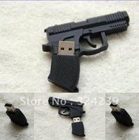 Pistol modelling USB2.0 high quality FLASH 4 gb of 8 gb 16 gb 32 gb/four capacity crystal/memory stick/free shipping