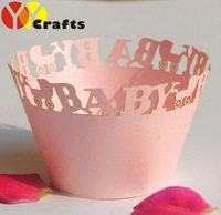 hot sell baby paper customizable disposable individual laser cut cupcake wrappers for baptism