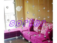 SORTER decorative crystal ball curtain with various design and colors