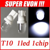 Promotion 100pcs T10 White LED Light 194 152 161 501 W5W Car Bulbs Dashboard Side Interior Wedge parking Light CL0008#100
