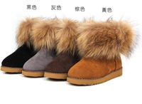 Туфли на высоком каблуке Fashion women's high heels pump shoes thin heels platform round toe rabbit fur ladies shoes