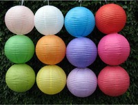 30Pcs/Lot Free Shipping 12''  Lantern Mixes Color  Chinese Paper Lanterns Wedding  Decorations
