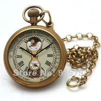 1882'S NY Tourbillon Pure Copper Tone Antique Style Men Pocket Watch Nice Gift Wholesale Price H035
