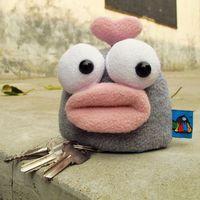 Giuliani beans plumo giuliani series three-dimensional key wallet keychain free air mail