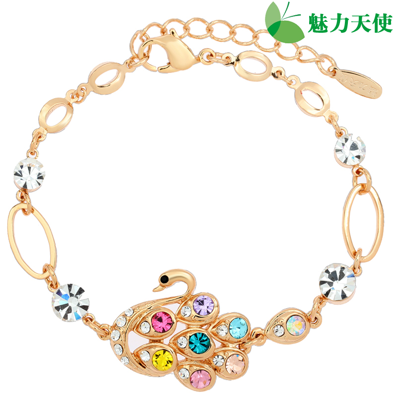 Gift charm angel crystal rhinestone bracelet female fashion Christmas gifts free shipping(China (Mainland))